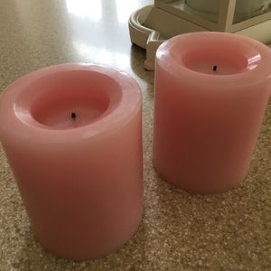 Set of Two Flameless Wax Candles